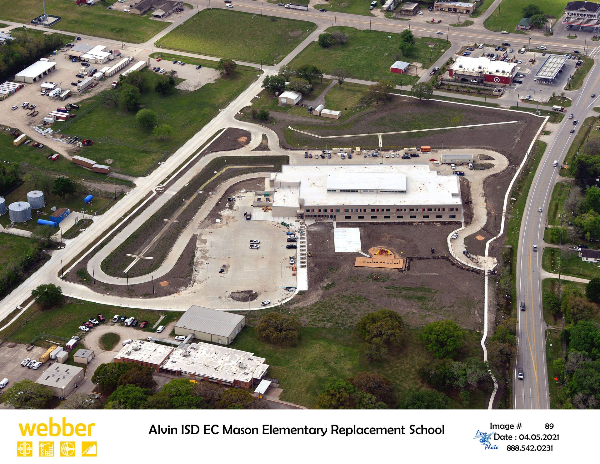 Alvin ISD Mason Elementary - Costello Engineering Project for commercial+development, drainage,