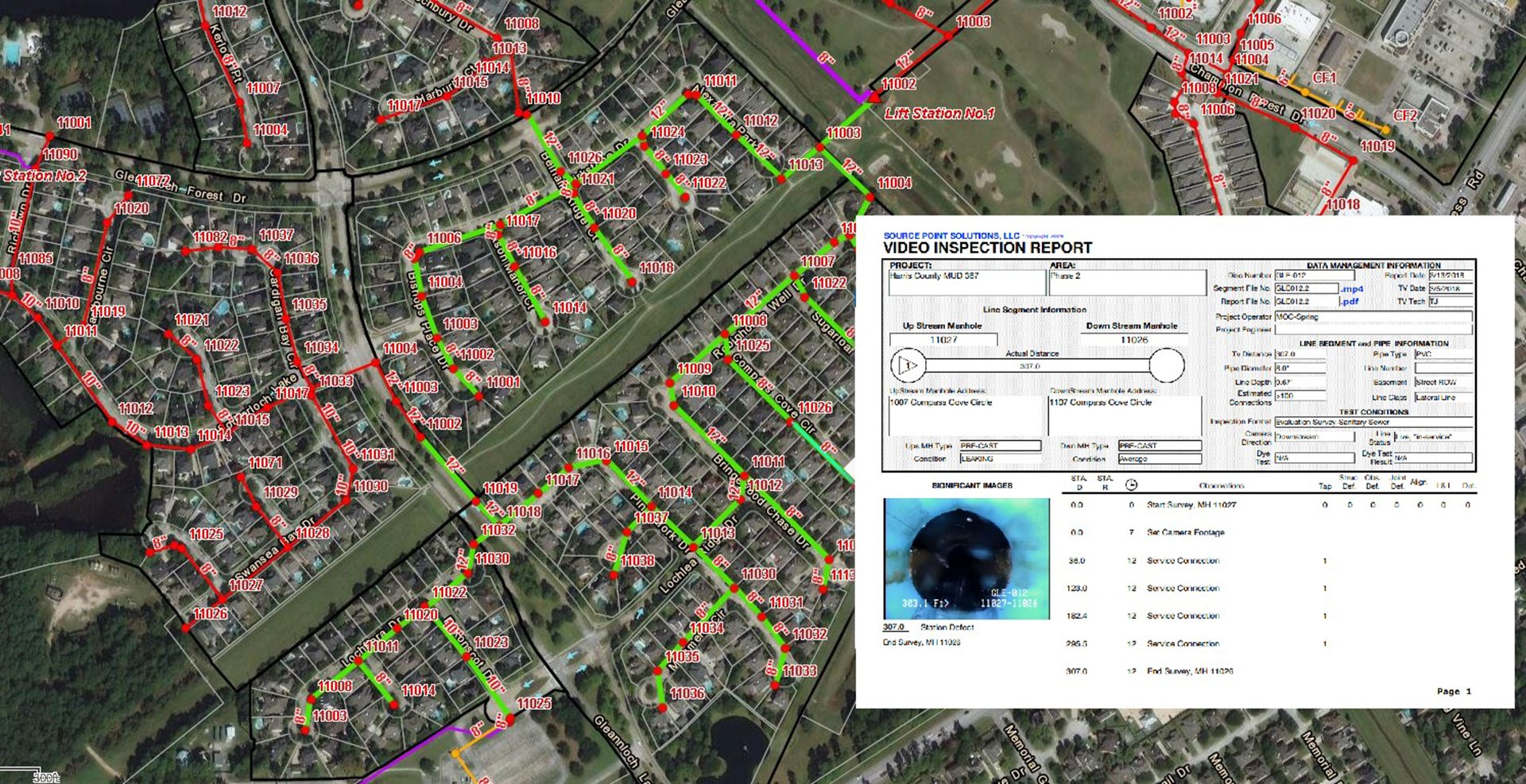 GIS Mapping for Gleannloch Farms-Harris County, Texas