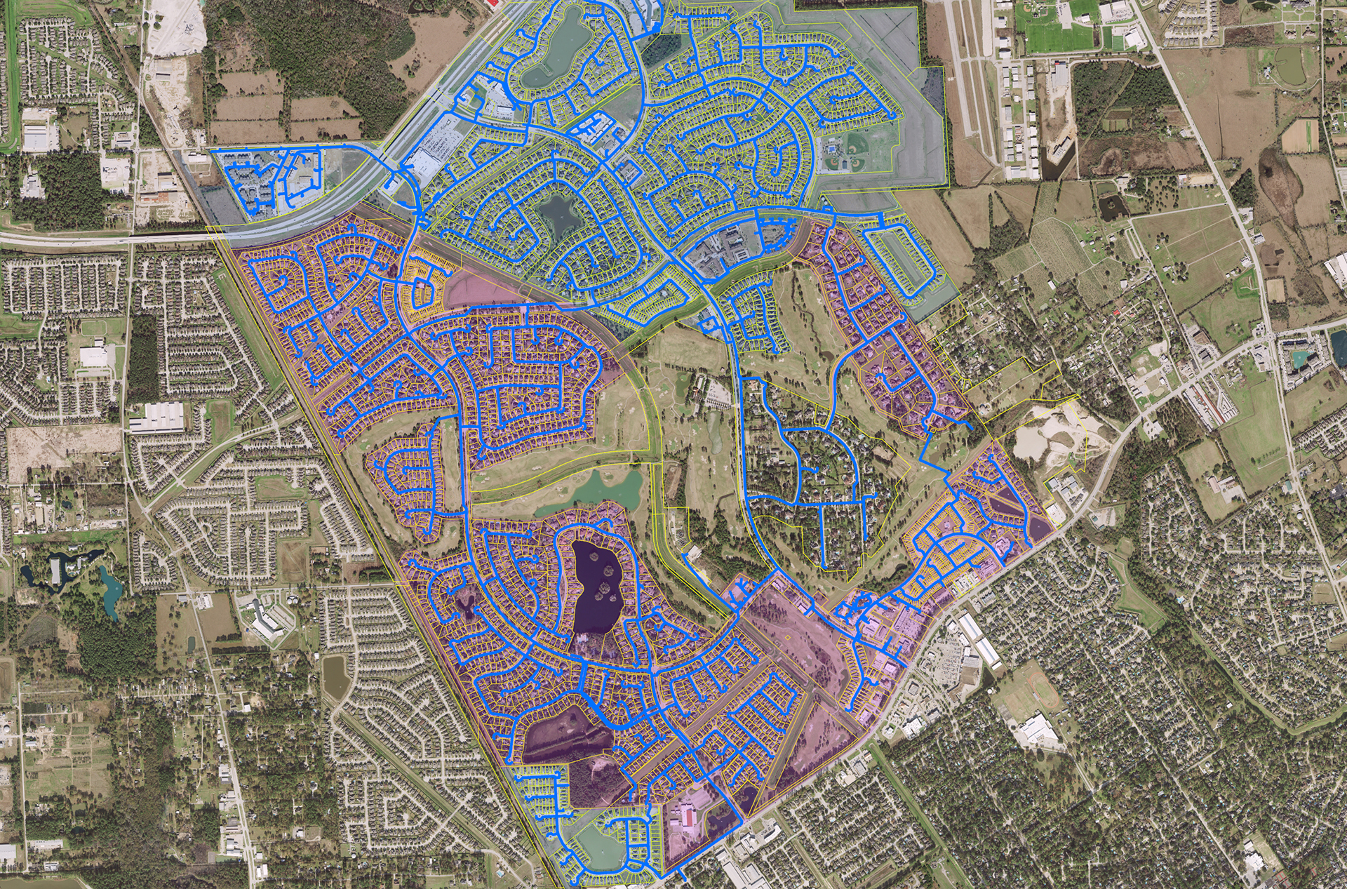 GIS Mapping for Gleannloch Farms - Costello Engineering Project for gis,