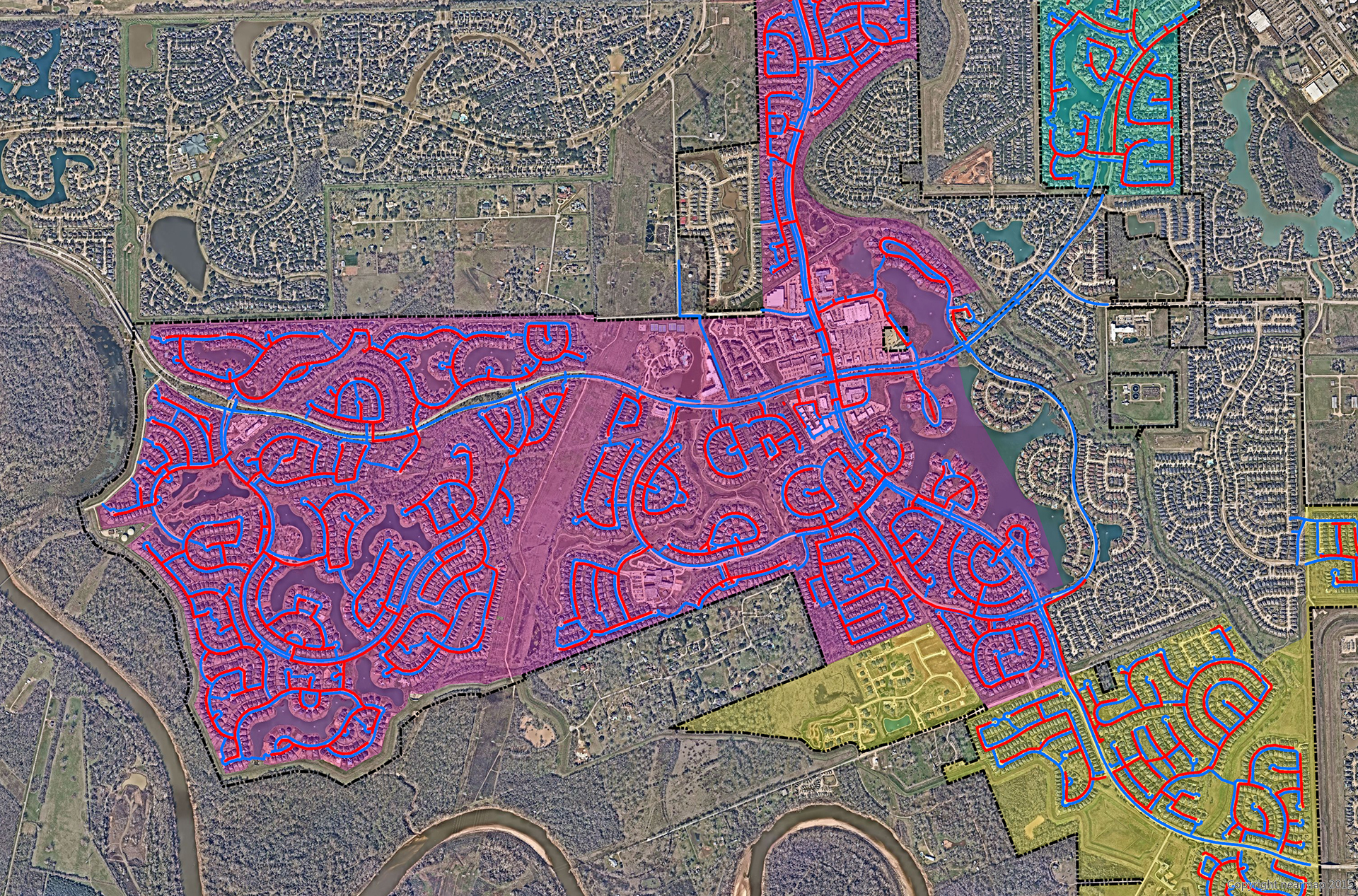 GIS Mapping for Riverstone-Fort Bend County, Texas